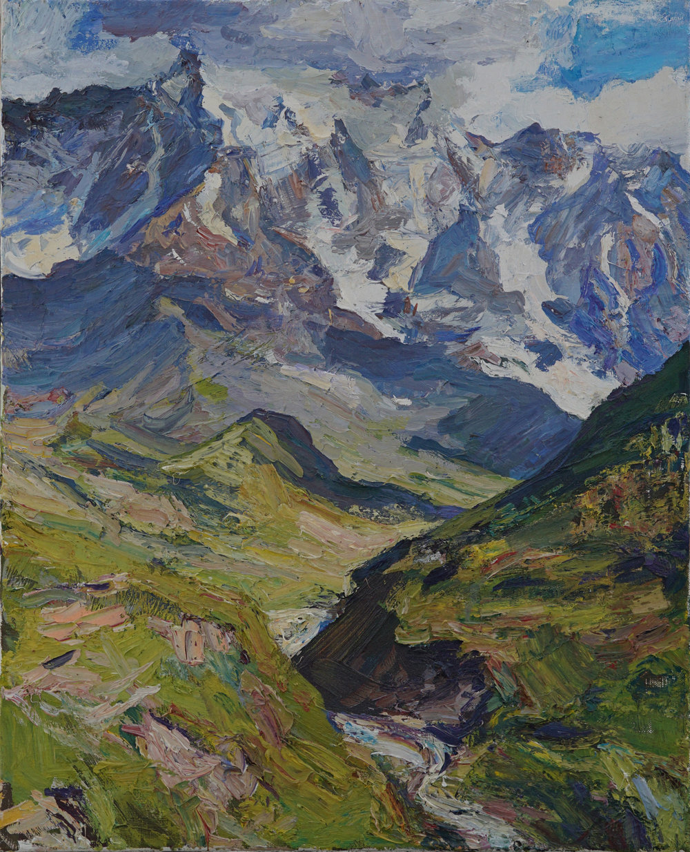 Georgian Caucasus  25 1 4 x 20 1 2  Oil, Linen.jpg