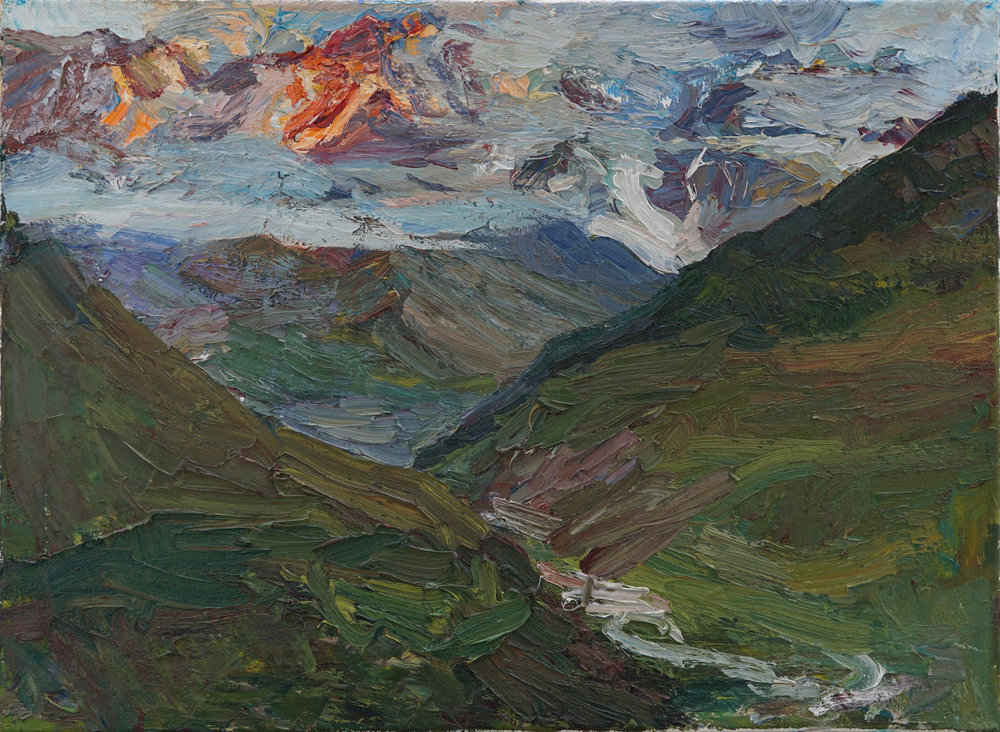 The moment before Sunset , Georgia,  19 2 3 x 26 3 4,  Oil,Linen.jpg