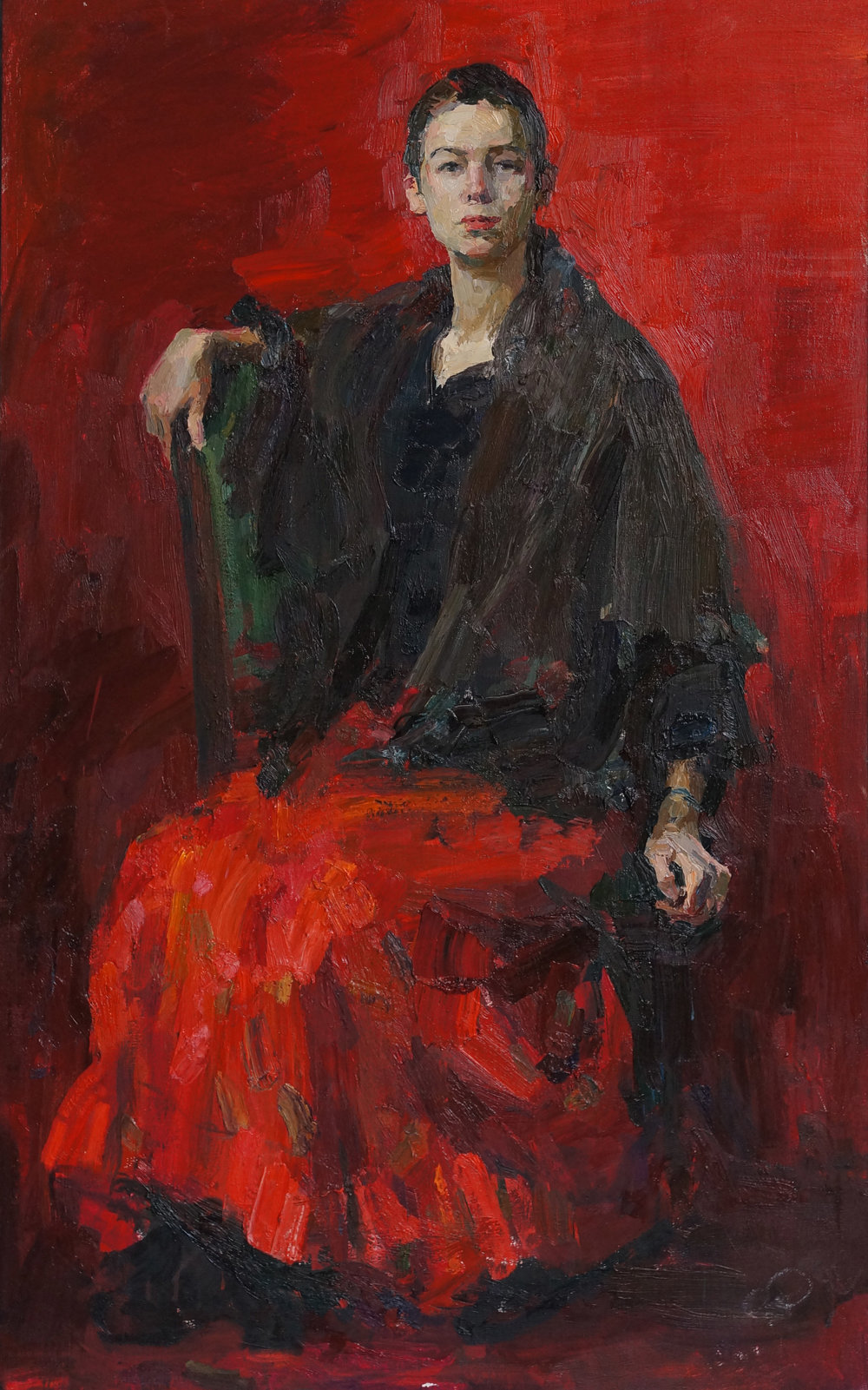 Red portrait, 47 1 4 x 30, Oil,Linen.jpg