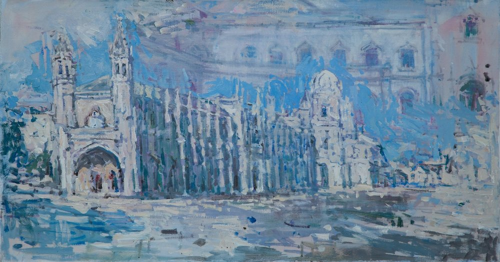 12.Jeronimos Monastery, oil on canvas, 47x80cm.jpg