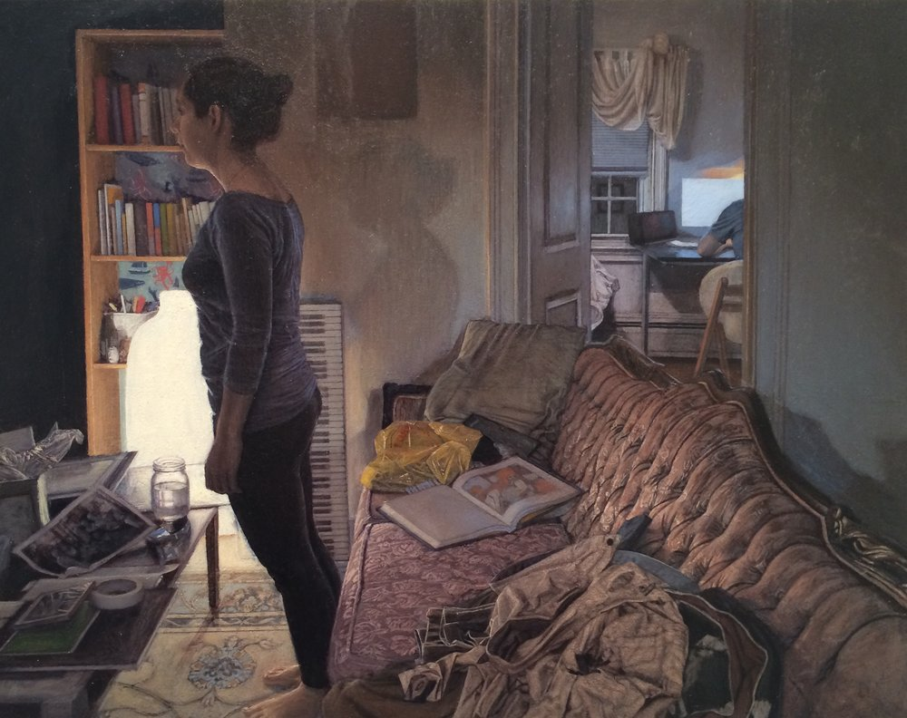"Piano Lesson  Oil on panel  11"" x 14""  $4,400"