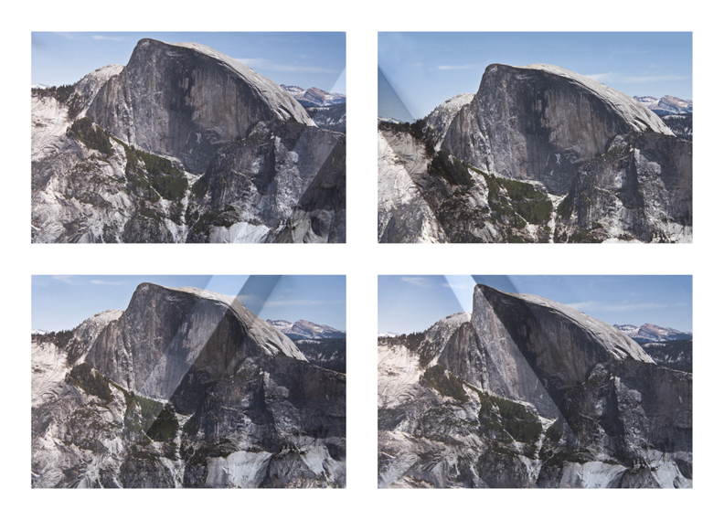 Mountains + Valleys (Half Dome, Tetraptych)