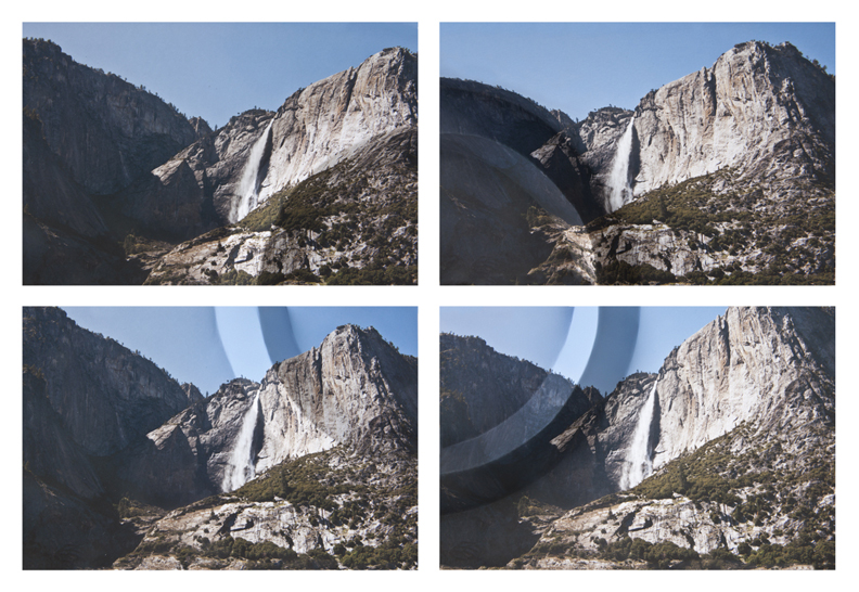Mountains + Valleys (Yosemite Falls, Tetraptych)