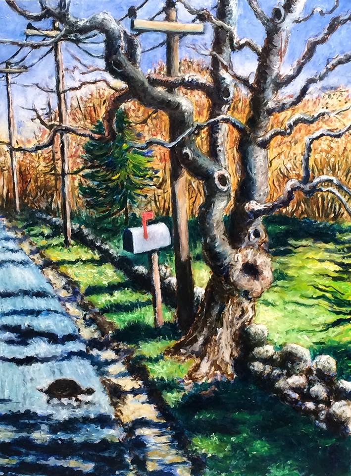 2015-0104-JP-Powel-Turtle Crossing Jordan Rd. 12h x 9w Oil on Panel.jpg