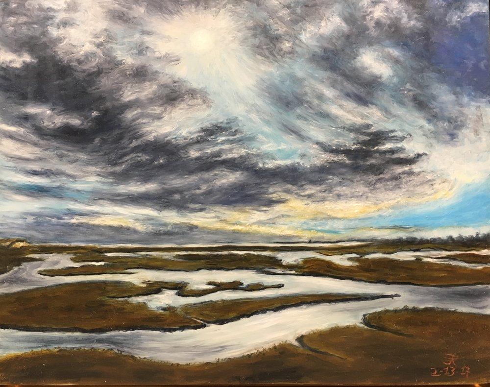 February Sky, Allen's Pond