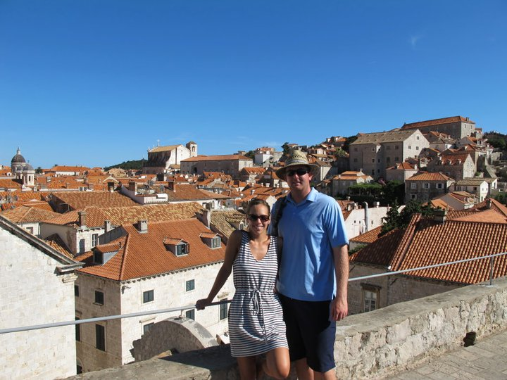 Walking the walls around Dubrovnik Croatia