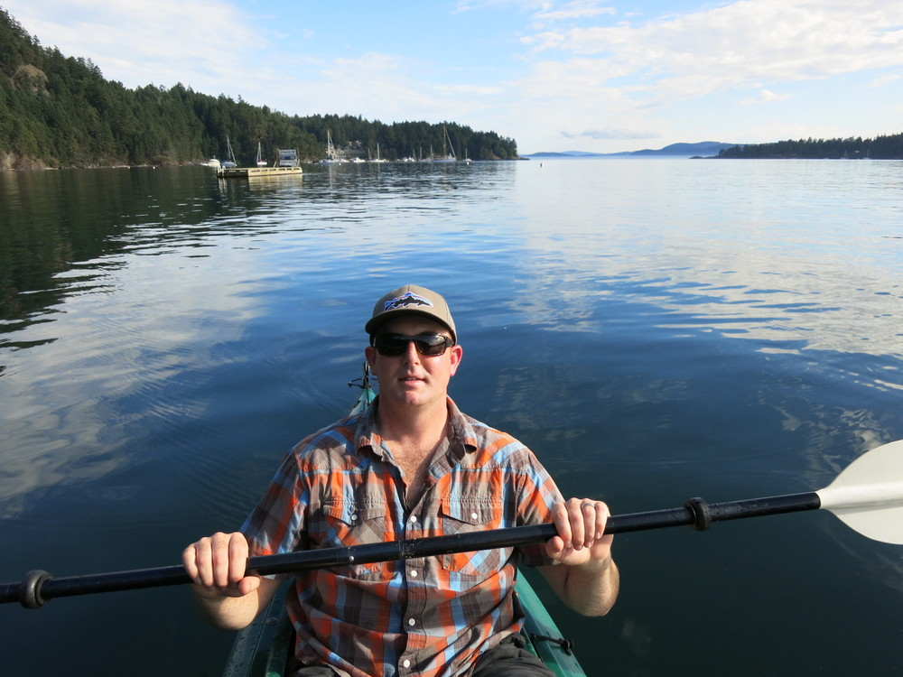 Eric kayaking