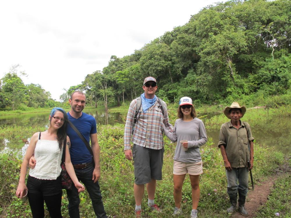 Us with a Mayan man