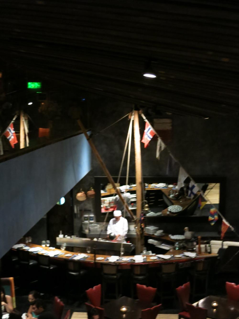 The bar was a ship!