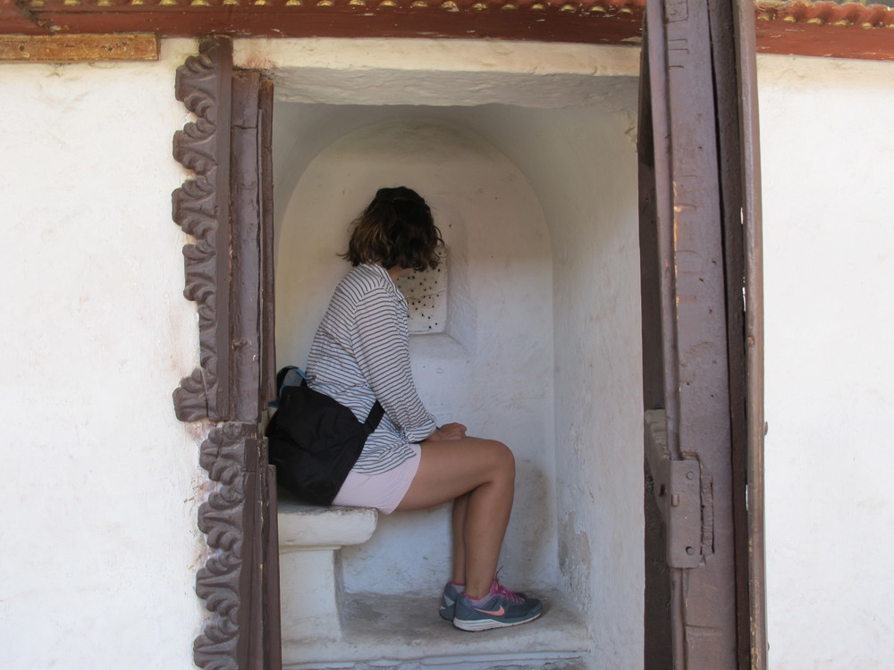 Me in the confessional