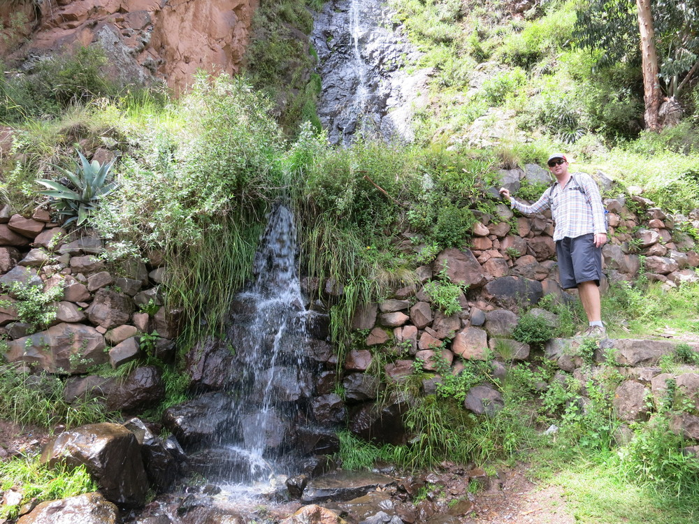 Eric by a waterfall