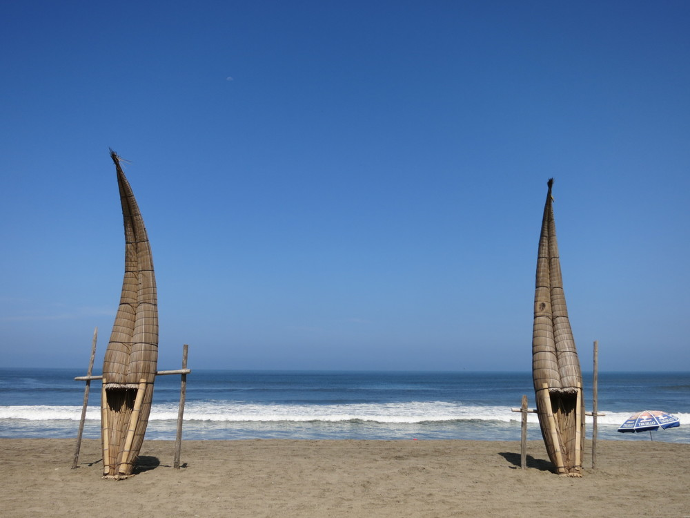 The traditional Huanchaco surf boards