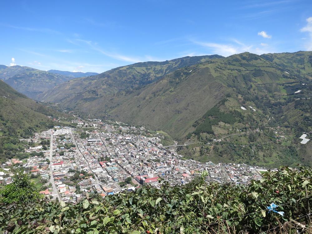 Looking down at Banos from Bellavista