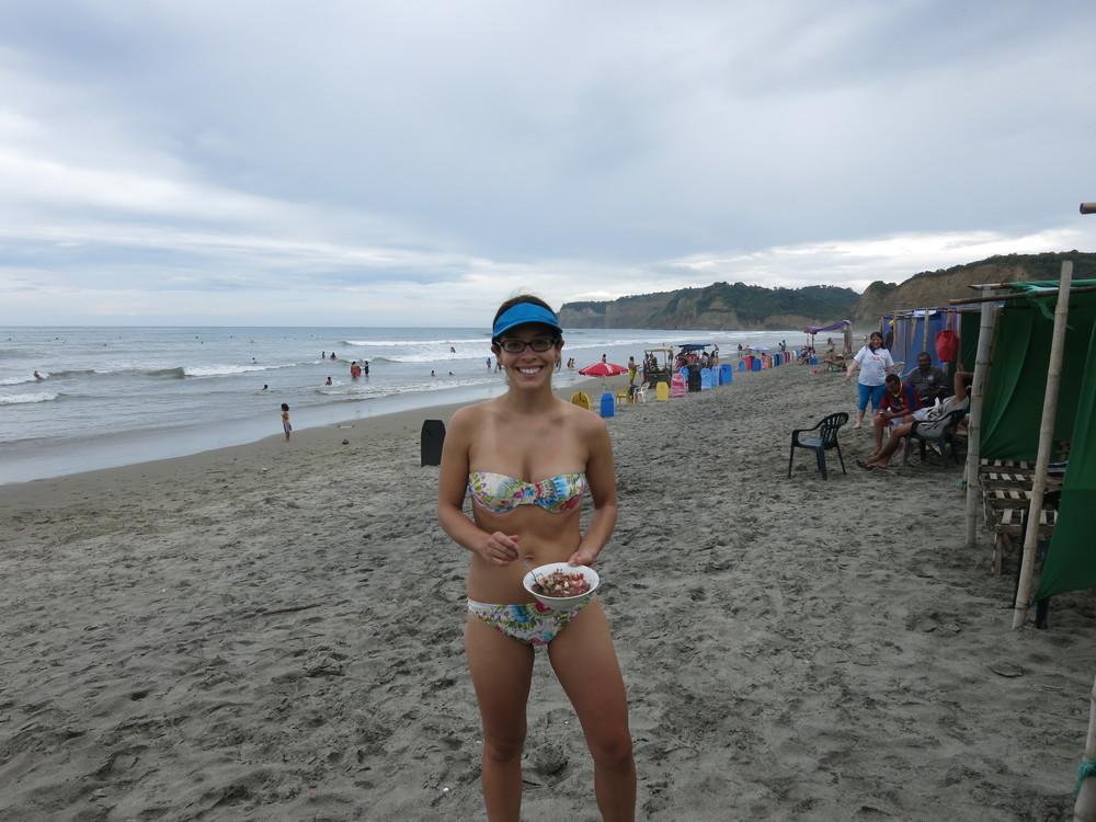 Ceviche on the beach!