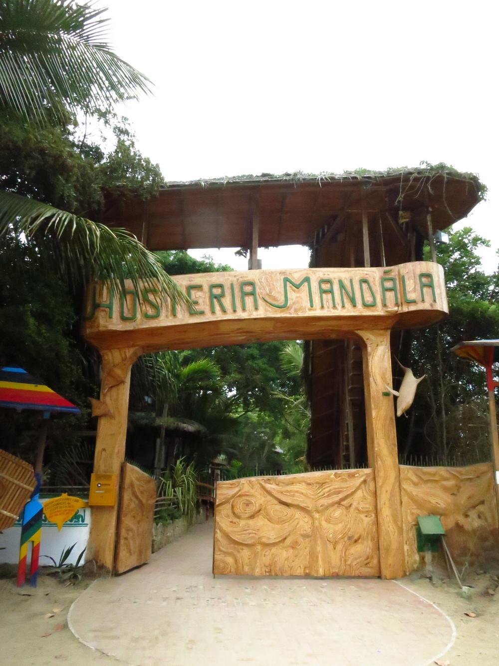 The gorgeous entrance to Hosteria Mandala