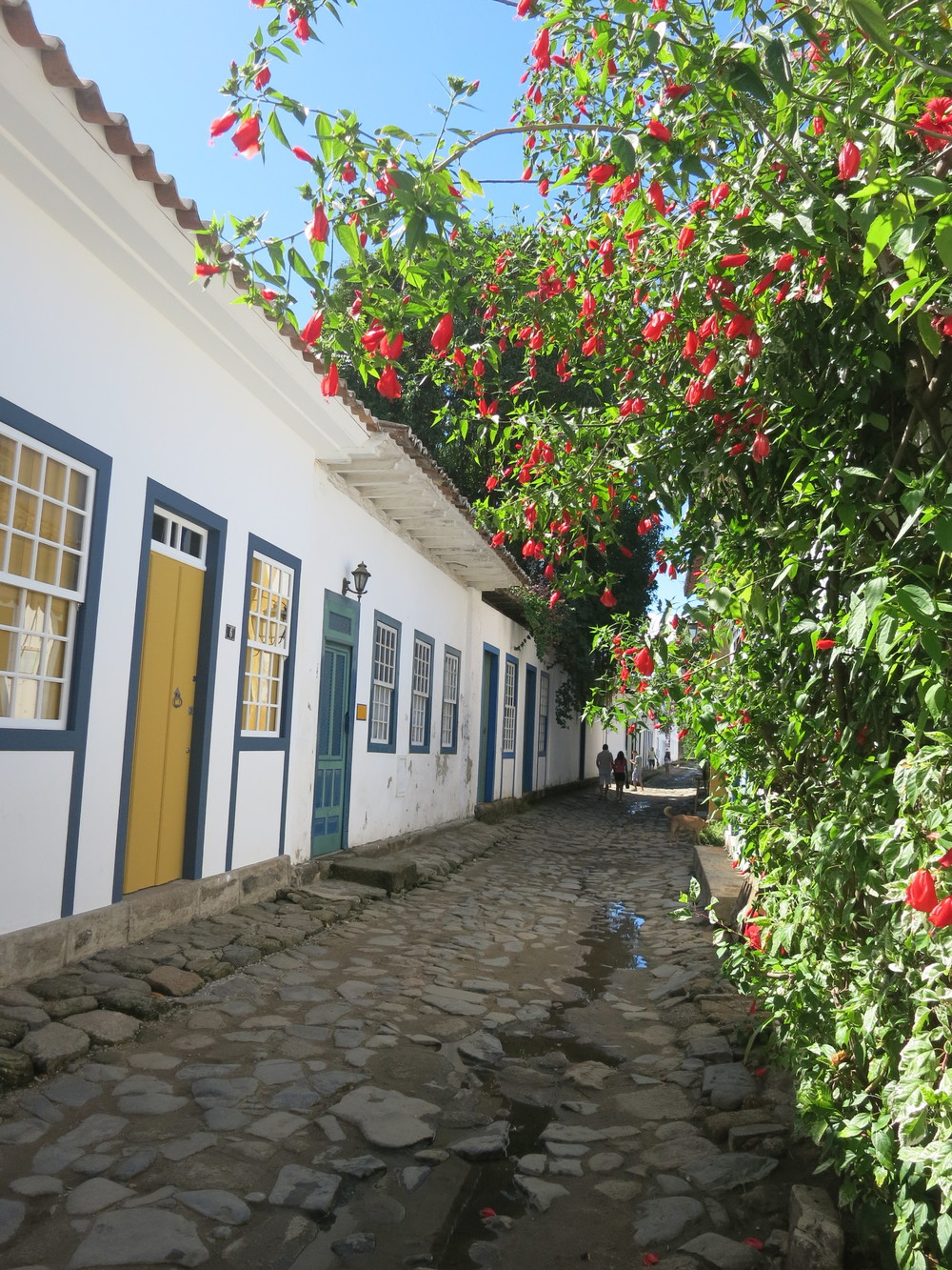 The cobblestone streets of Paraty