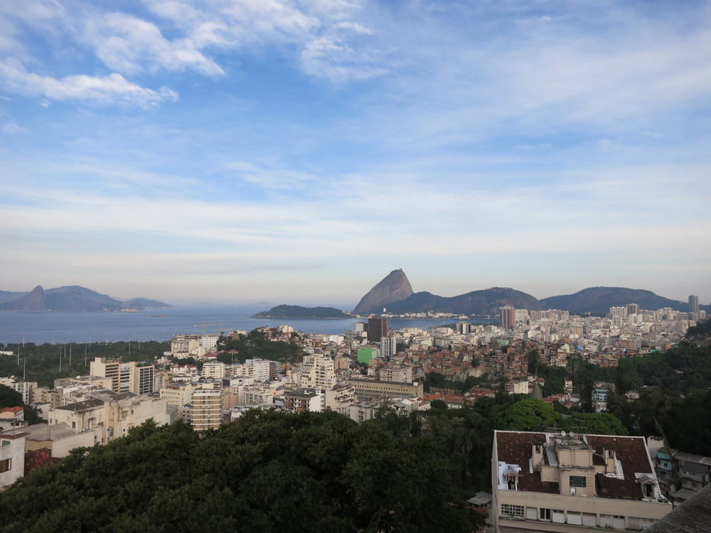 The view of Sugarloaf and the skyline of Rio