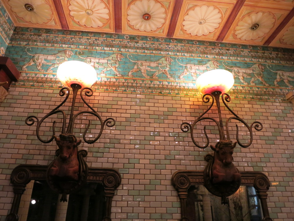 Inside the bottom floor cafe