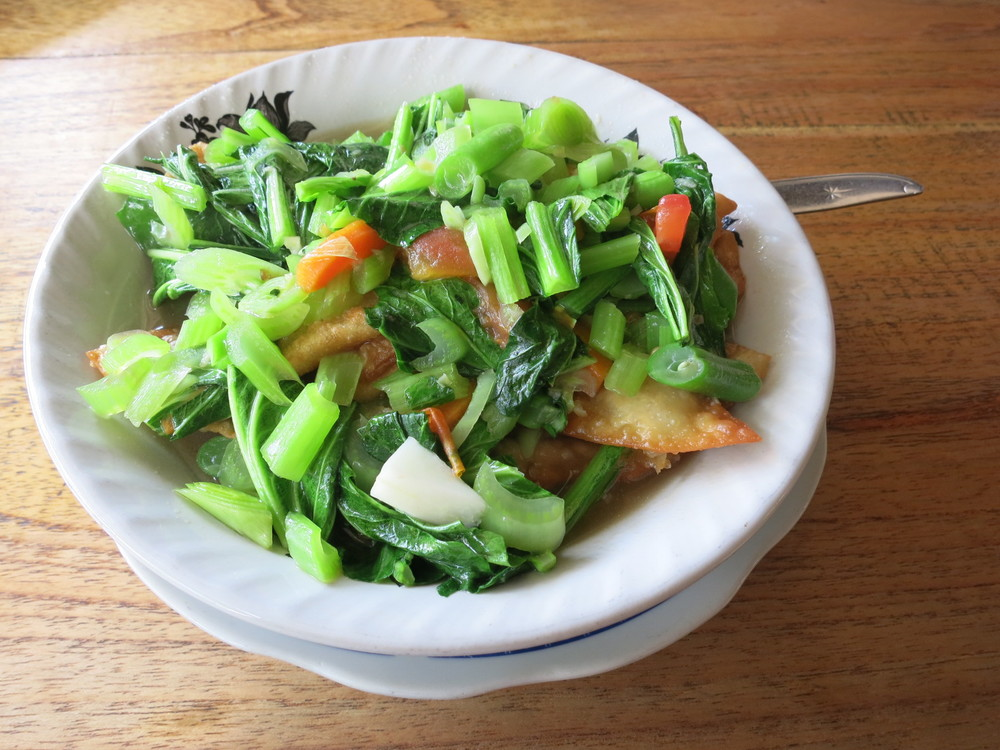 The vegetable dumpling soup at Lokal Warung