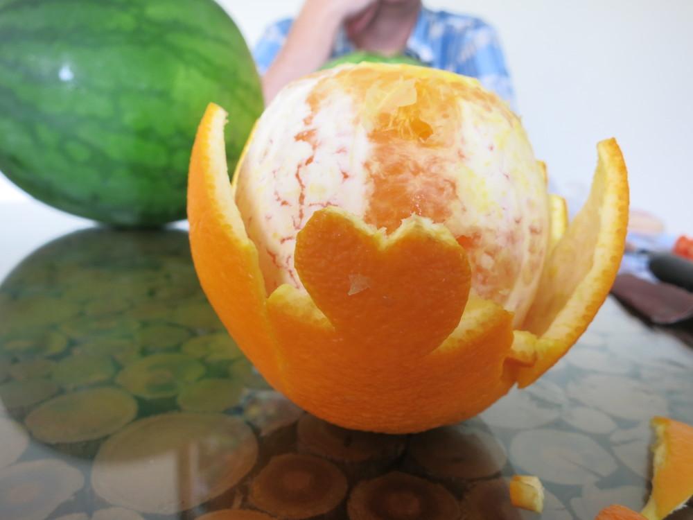 I heart you orange