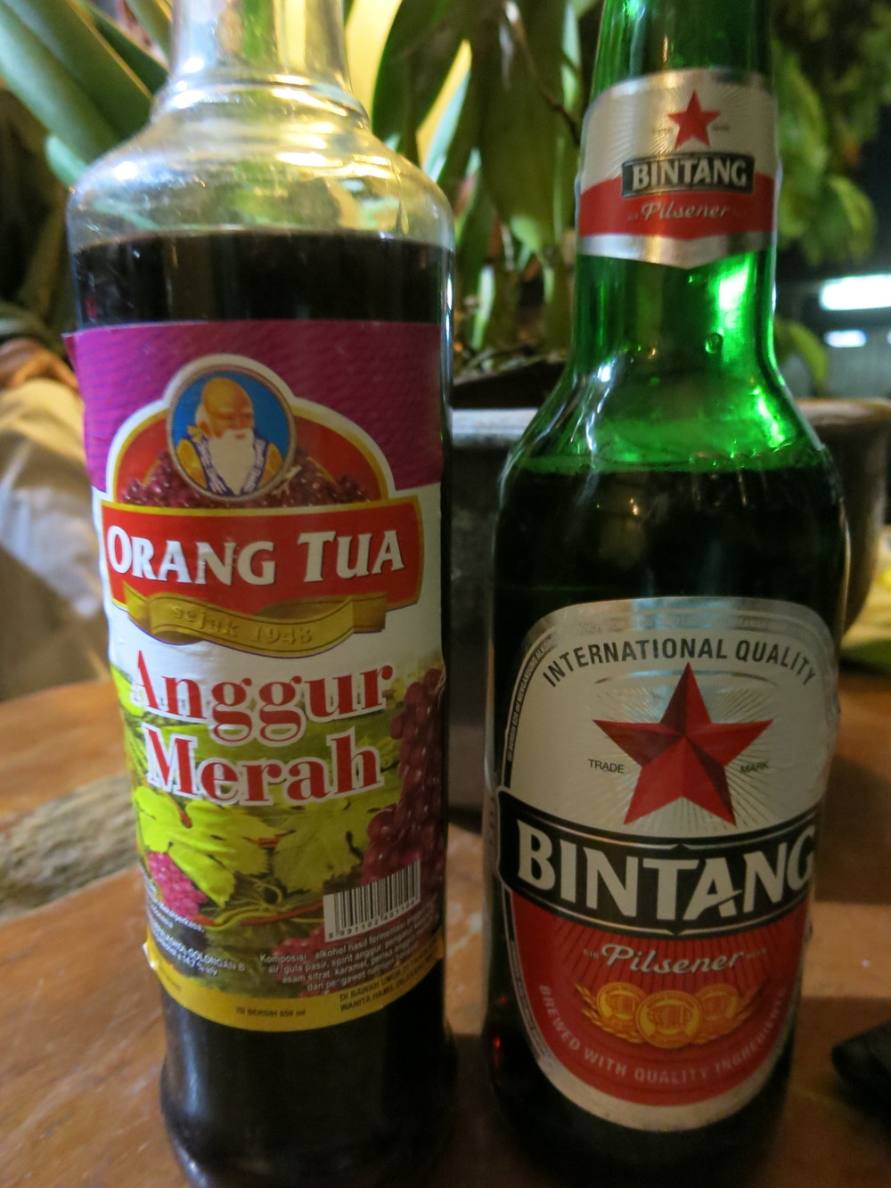 Bintang + Wine??  Sure!  Never try, never know.