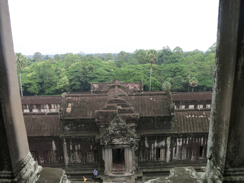 Looking down from Angor Wat