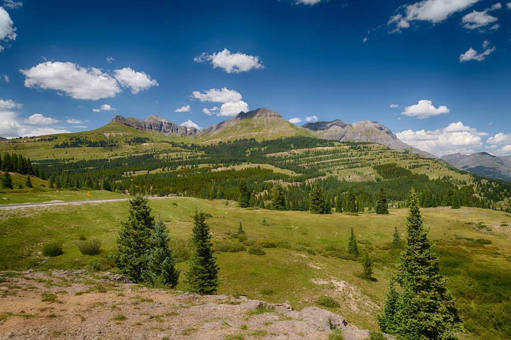 Molas Pass, last August. I'm taking this from almost 11,000 feet. So those peaks are ...