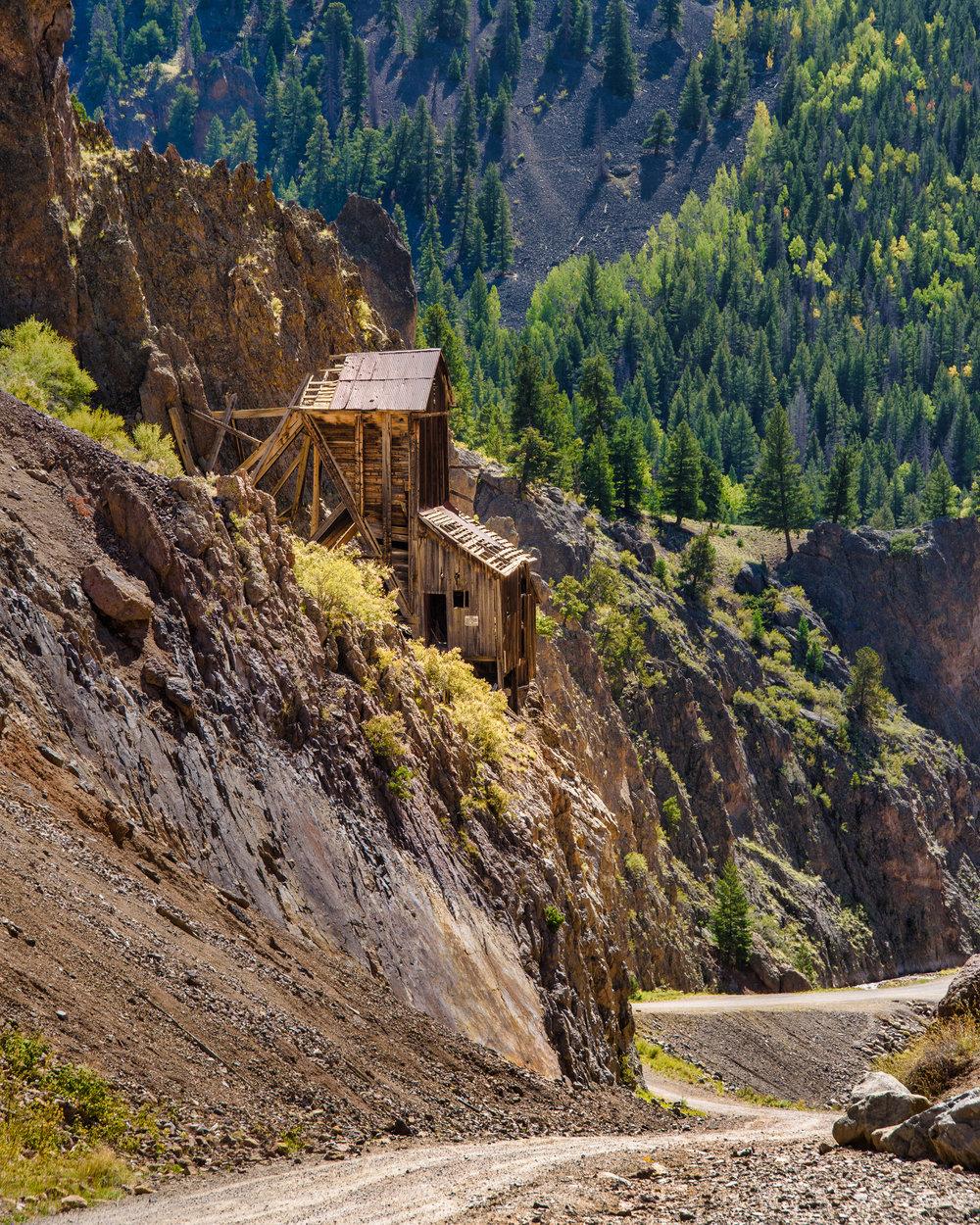 Colorado, last fall. Still craving color. I suspect miners were half mountain-goat.