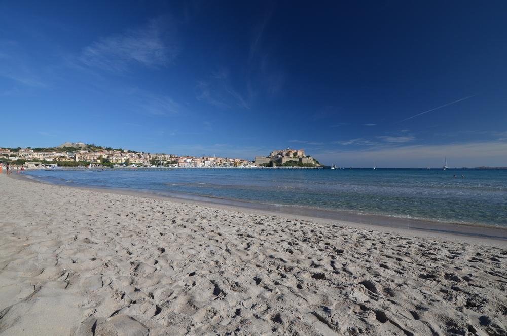 The Calvi beach