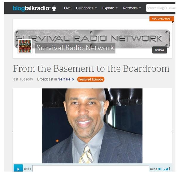 "Brian Joubert owner of Survival Radio Network and host of ""From the Basement to the Boardroom."" I had a great time! Listen below!"