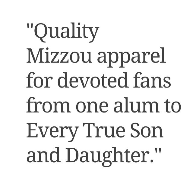 "Our mission hasn't changed since Day 1 and today we hope to outfit Tiger fans everywhere with 50% off EVERYTHING we make. Promo code ""MONDAYFUNDAY"" makes the magic happen. #MIZZOU #everytrueson #cyberfunday"