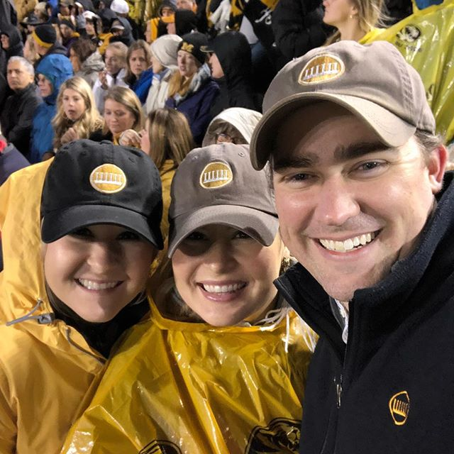 Representing in the rain! #everytrueson at Vanderbilt braving the elements. #mizzou #mizzoufootball #socold