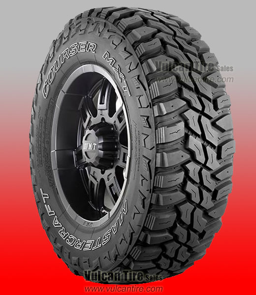 Overview The Courser MXT is an extreme off-road mud terrain tire perfect for light truck owners and extreme off-roaders seeking aggressive off-road traction and excellent handling on the highway.           IN STOCK NOW For Price & Availability Call 985-876-8052