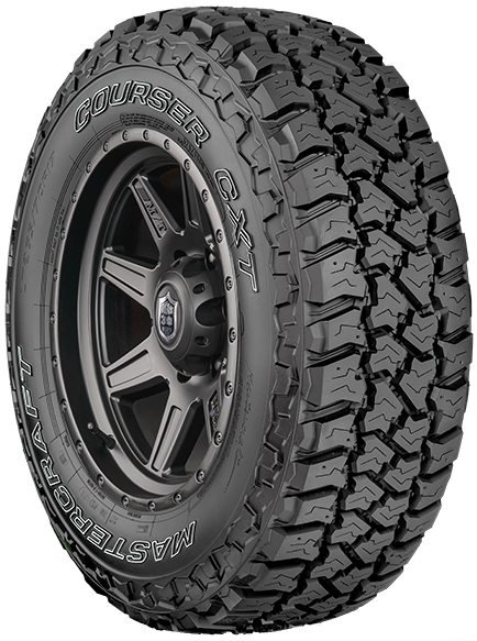The Courser CXT was designed as a premium light truck commercial traction tire that provides trusted all-terrain performance with enhanced off-road durability. The CXT features variable full depth siping and a silica rich tread compound for enhanced wet and winter traction. The large tread element and blocky design help to resist abnormal wear while enhancing tread stability and durability. For Price & Availability Call 985-876-8052