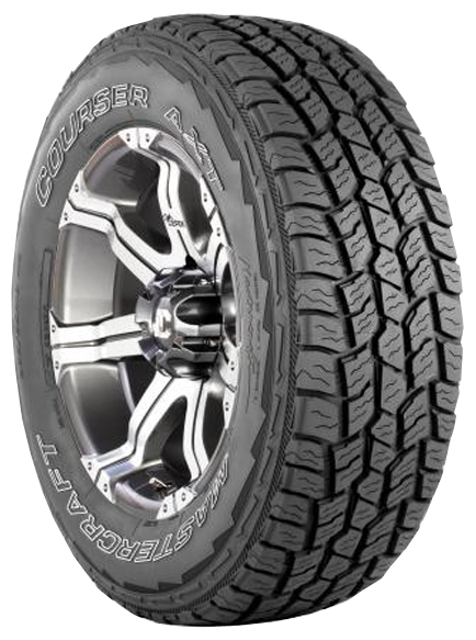 Overview The Mastercraft Courser AXT is a true all-terrain tire that delivers a modern 5-rib tread design, aggressive off-road capabilities, confident highway control and wear, and balanced all-season performance. AXT has a 50,000 Mile Treadwear Protection Warranty