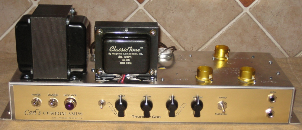 Custom Thundergod With Tremolo and Marshall/Supro voicing switch