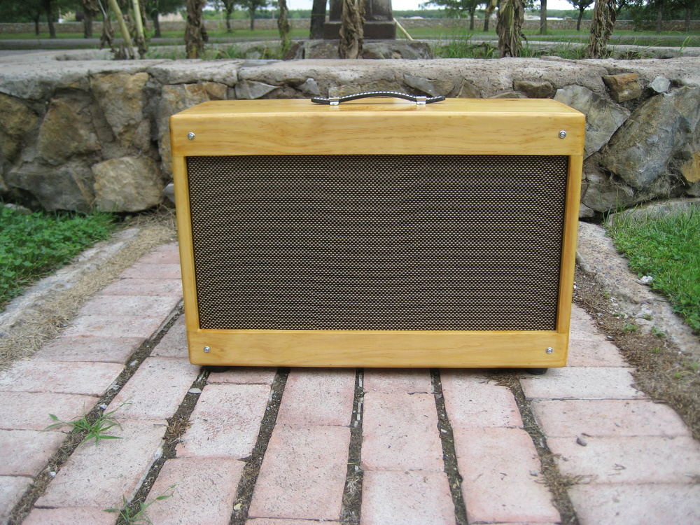 2X10 Solid Pine Cab with Amber Finish