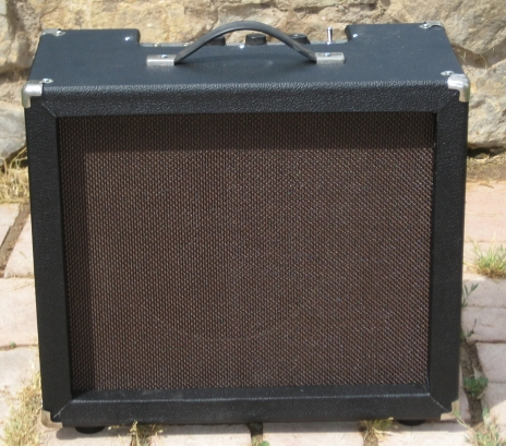 This Mike Matthews Freedom Amp came in. The Cab was shot---and the caps were bad. I built a new cab and re-capped and voilà better than new!