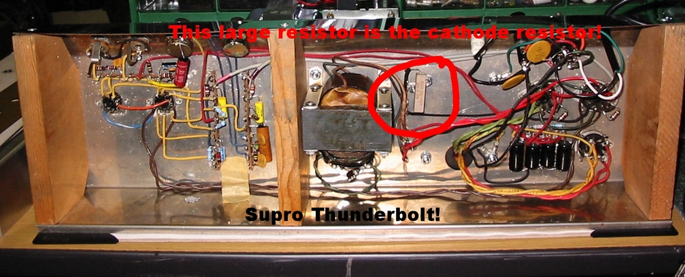 A classic cathode biased amp: the Supro Thunderbolt!