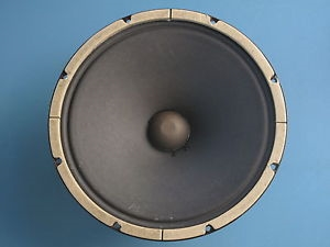 Vintage Smooth cone speaker. Less detail with quick break-up.
