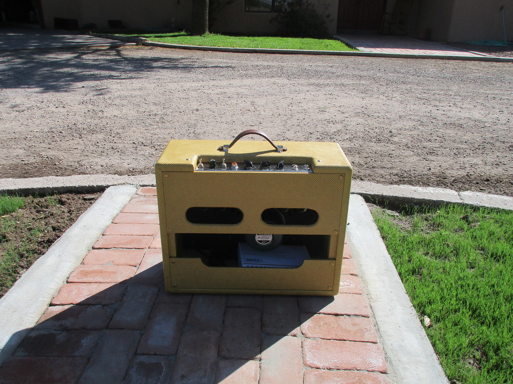 Rear of Octal Deluxe 1X12 Combo