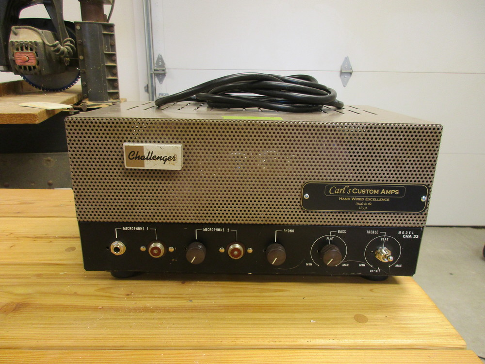 This Bogen Head was rebuilt into Dr.Z Route 66 style amp! Big cleans---very neat!