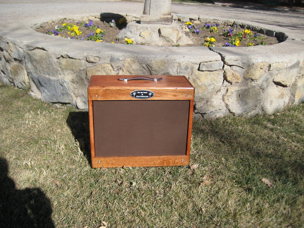 Finger Jointed Pine 1X12 Cab. The front and back panels are reclaimed oak!