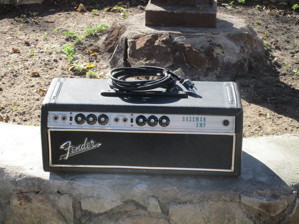 I restored and modded this Silver Face Fender Bassman. It has a transitional circuit that Fender never even published a schematic for!