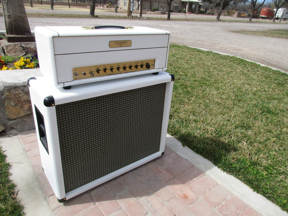 British Overdrive 50 with 2x12 Cab in British White