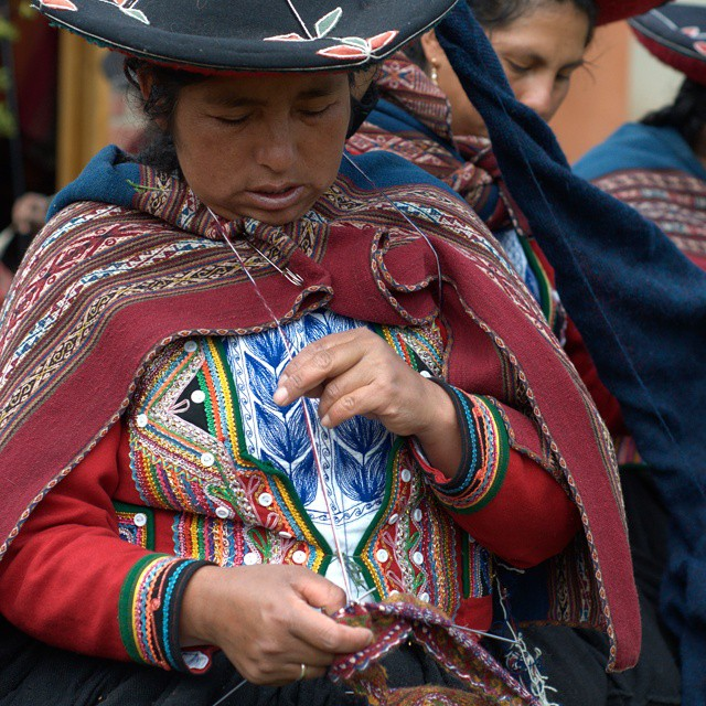From the women's weaving cooperative in Chinchero, Peru. @afarmedia @ustoanyc #traveldeeper #traveltogether #peru #natgeotravel