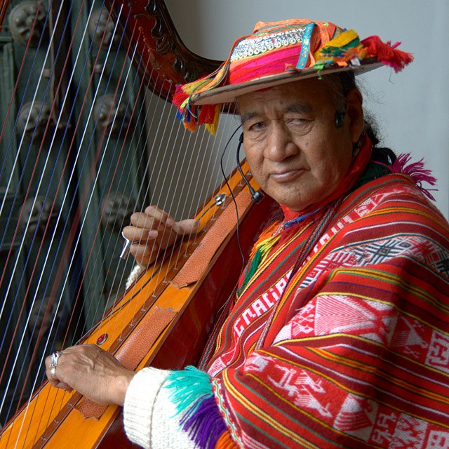 A harp player near Plaza de Armas in Cuzco, Peru. @peru @afarmedia @ustoanyc #traveldeeper #traveltogether #peru