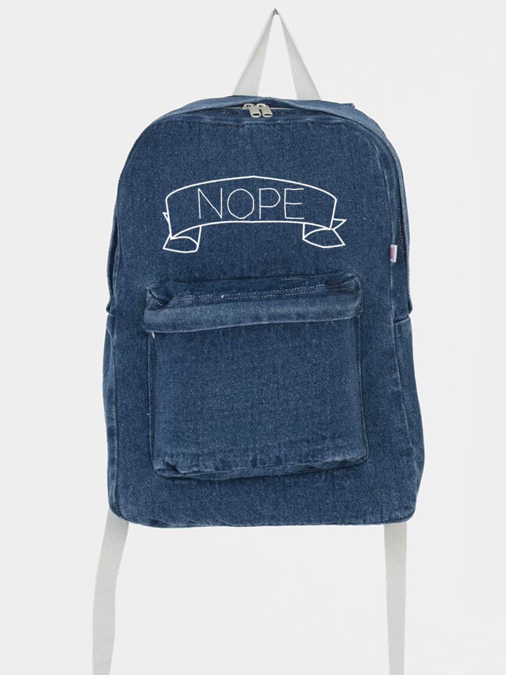 Nope Denim School Bag ♡