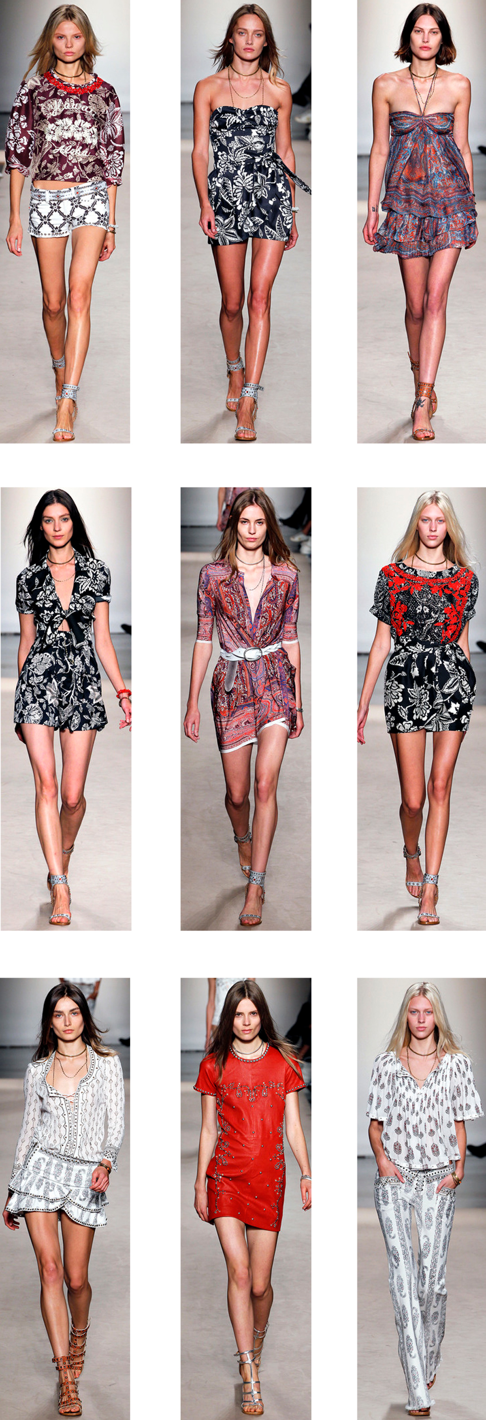 All images via  www.style.com
