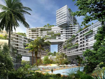 This is not the building I live in (I wish!), but isn't it awesome? Singapore has some seriously ambitious architecture. Image Source: The Interlace